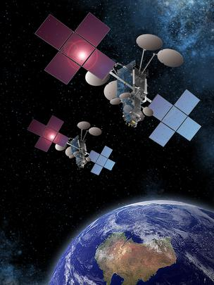 Artist's rendition of the two NBN Co. Ltd. satellites.