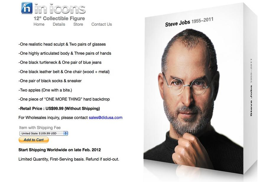 Steve Jobs 'action figure' coming in February - Silicon Valley