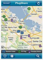 App finds electric vehicle charging spots