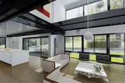 An interior rendering of a 2,560-square-foot prefab home by Connect:Homes,  which starts at $448,000 including delivery and installation.