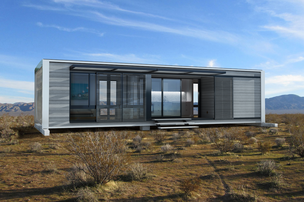 An exterior rendering of a 640-square-foot prefab home by Connect:Homes, which starts at $128,000 including delivery and installation.