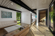 An interior rendering of a 640-square-foot prefab home by Connect:Homes,  which starts at $128,000 including delivery and installation.