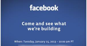 Members of the media received this invite for the Facebook press event.