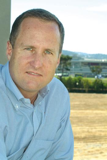 Chris Meany, in this file photo from 2010, is a principal at Wilson Meany. The company, partnered with Stockbridge, is transforming the old Bay Meadows racetrack into San Mateo's newest transit village.