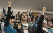 Fans went wild as the Sharks took the Coyotes, 5 to 3.