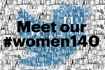 Tweet with the top women in business on Monday: #WOMEN140
