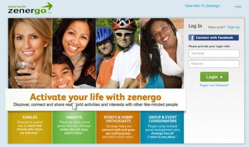 """Social network Zenergo announced its launch with an """"Activate Your Life"""" slogan."""