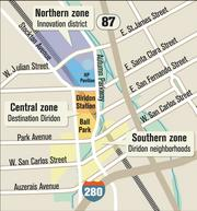Diridon Station Area Plan Office/R&D: 4.9 million square feet  Retail/restaurant: 420,000 square feet Residential units: 2,588  Hotel rooms: 900