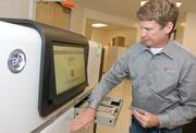 The PacBio RS machine features a touch screen to sequence DNA.