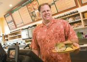 John Hannah (shown here in his Morgan Hill eatery) opened his fourth Erik's DeliCafé with a new format at Westfield Oakridge mall. The franchisee also owns three other Silicon Valley Erik's locations.