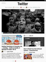 An example of how a user's Twitter feed would look on Flipboard's app.