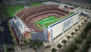 The purposed 49ers stadium in Santa Clara