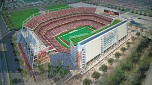 A rendering of the 49ers' new $1.2 billion Santa Clara stadium, which is in the running to host either the 2016 or 2017 Super Bowl.