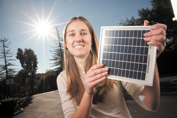 "Lesley Silverthorn's company developed a ""micro"" solar power system."
