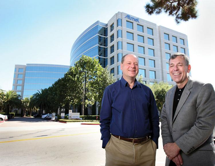 Cornish & Carey Commercial Newmark Knight Frank broker Joe Hamilton, right, helped write the Atmel Corp. deal on Technology Drive in San Jose. John Pfeifer, right, was head of Atmel's real estate at the time.