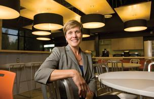 Debbie Fleser, vice president at BCCI, said her firm demolished the original interior at Skype's headquarters in Palo Alto for a more open feel.