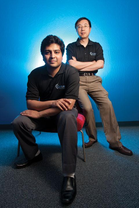 From left, CEO Gaurav Manglik and CTO Tenry Fu launched Cliqr out of the Google Ventures office in Palo Alto.
