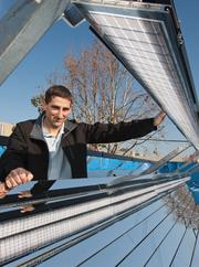 Energy winner: Mountain View's Congenra Solar has been capturing big attention since introducing a hybrid solar system that generates both heat and electricity in 2011. The system, according to CEO Gilad Almogy (pictured here), can extract five times the net energy as a conventional solar system and displace about 60 percent of a building's natural gas needs.