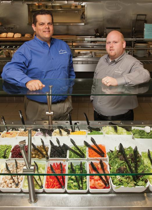 Co-owners Joe Schumaker, right, and Jacob Caputo, left, started with an event focus, but found business cafes was a steadier sector for Cosmopolitan Catering.