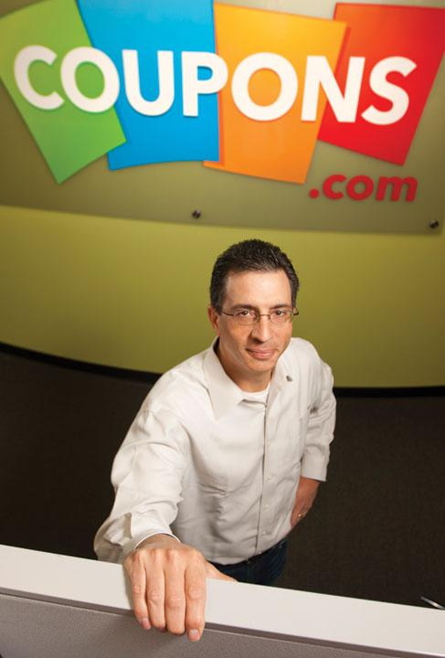 Coupons.com customers are young, well-educated parents who don't spend money on newspaper subscriptions but love a bargain, says company CEO Steven Boal.