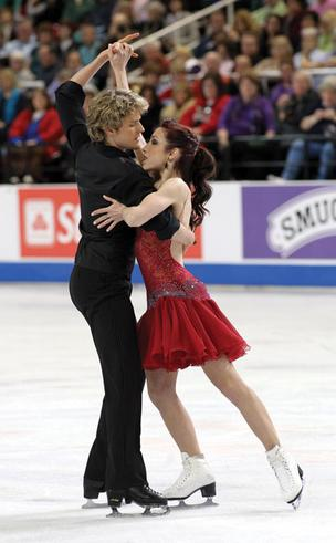 Reigning champion ice dancers Charlie White and Meryl Davis