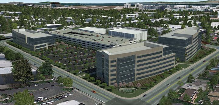 Hot location: JP DiNapoli plans to build a 611,025-square-foot Class A office space on 14.2 acres in Sunnyvale.