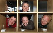 Business technology winner: Euclid Elements has developed a hardware and software platform that gathers information about customers' movements in stores — such as where they go, how long they spend there, and how much repeat business the store gets. Its founders include Ken Leung (top), Steve Wilhelm (bottom, from left), Will Smith and Scott Crosby.