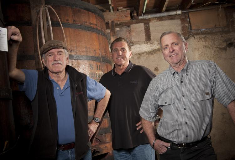 Guglielmo sons George E., Gary and Gene, left to right, stand among the wine barrels that started the family tradition in 1943.In business since: 1925What they do: 80-acre vineyard with on-site wine tasting, retail store and private event space Founders: Emilio & Emilia Guglielmo Current generation: 3rd 2012 revenue: Around $3 million Location: 1480 E. Main Ave., Morgan Hill Fun fact: Produces more than 150,000 cases of wine per year