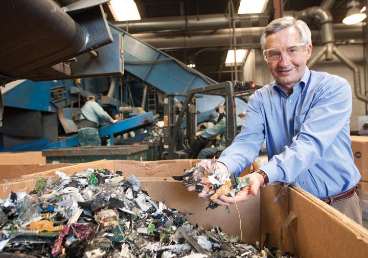 CEO Jim Taggart shifted away from a corporate recycling focus to consumer electronics after about two decades in business.