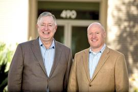 FrontRange Solutions CFO Bob Corey, left, and CEO Jon Temple will move the company to Milpitas from Pleasanton. A key reason is to be closer to attracting talent.