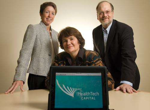 From left, Kathy LaPorte, Anne DeGheest and Don Ross are the founders of HealthTech Capital, a new angel group investing in health and technology companies.