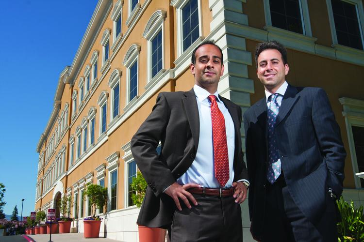 Health focused: Kevin Heravi, left, and Eric Rafia founded HealthMed Realty in 2010.