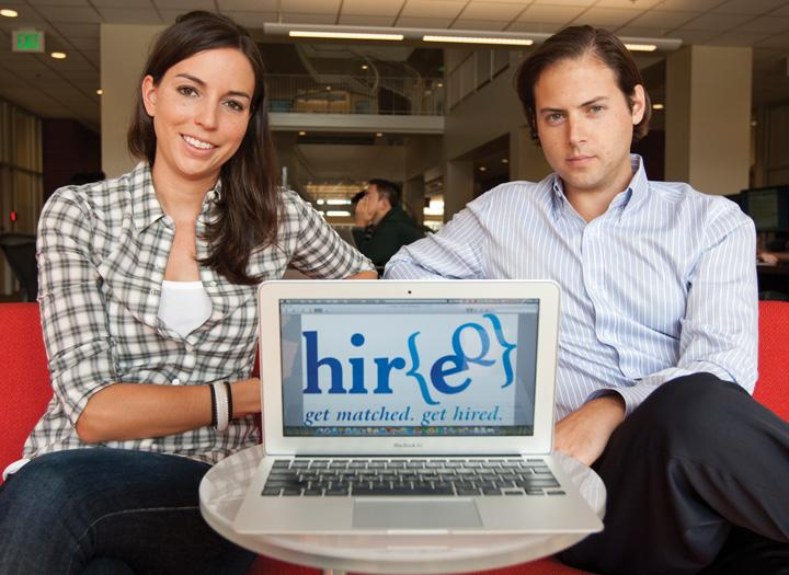 Oliver Staehelin and Catherine Spence say their business is unique because it starts by rating compatibility between job-seekers and employers.