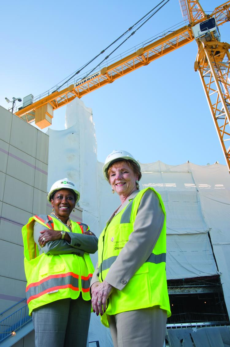 Sequoia's rebuild is behind schedule due to delays getting state approvals, said President Glenna Vaskelis, right, with COO Sherie Hickman.