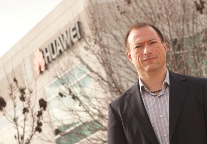 John Roese heads Huawei's North American R&D business. The company has three buildings in Santa Clara and is moving into a fourth this month.