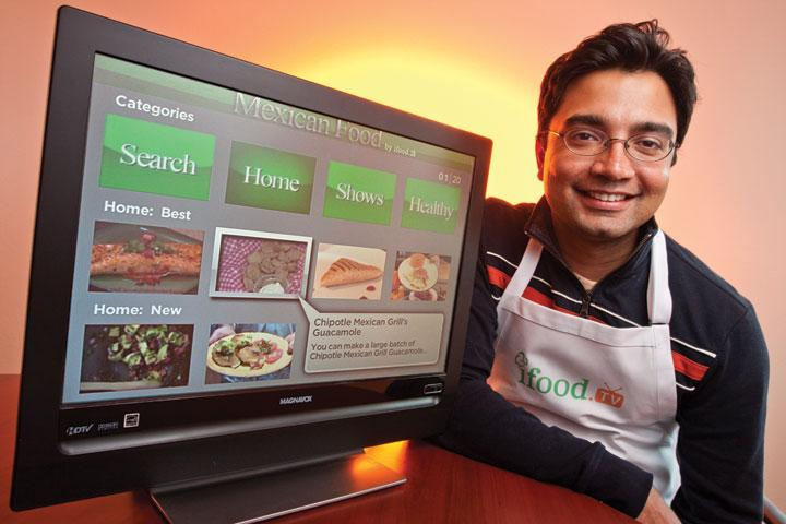 Vikrant Mathur, shown, formed iFood.tv with Alok Ranjan out of his interest in learning to cook. Now the site hosts 40,000 videos and 300,000 recipes.