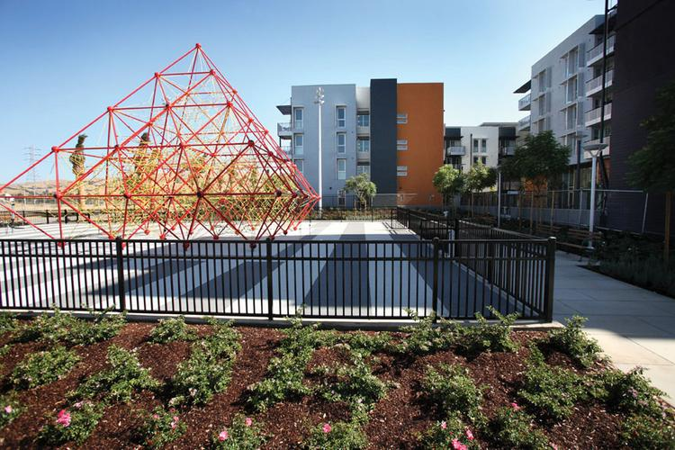 Station Center is an affordable housing and commercial space near the Union City BART Station that is part of a bigger redevelopment area intended to create a vibrant city center.
