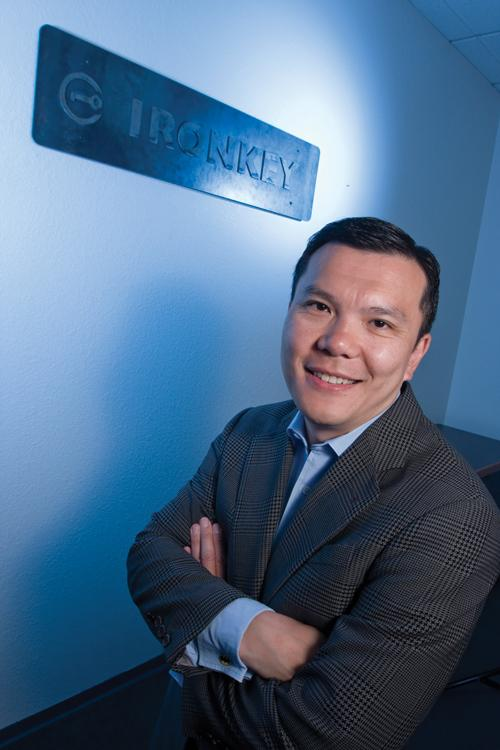 IronKey CEO Arthur Wong plans to expand beyond the encrypted thumb drives his company is known for.