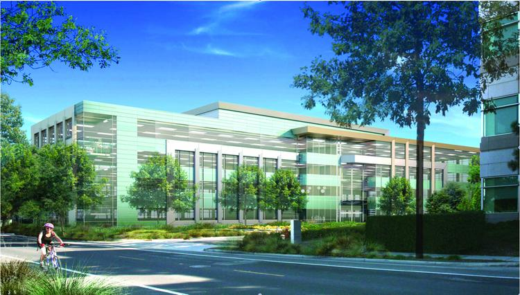 Expansion: Jay Paul Co. wants to build two four-story office buildings next to the building it owns at 395 Page Mill Road, where AOL is located.