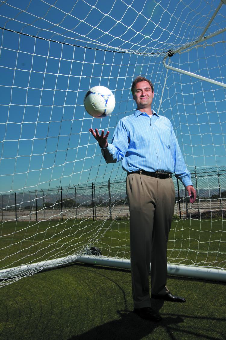 San Jose Earthquakes President Dave Kaval recently inked a deal to help his pro soccer team line up stadium sponsors as part of a broader push to grow Silicon Valley soccer.
