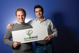 LendFriend CEO Geno Moscetti and co-founder David Kuchar.