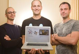 Matcha Inc. Co-founders (from left) Ilan Ben Zeev, Guy Piekarz and Paul Petrick