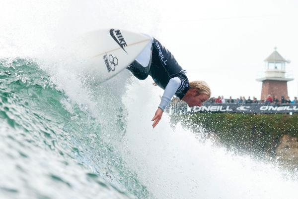 Santa Cruz native Nat Young, 21, competes in round one of the O'Neill Coldwater Classic in Santa Cruz. After beating 11-time world champion Kelly Slater in the opening round, Young was eliminated in round three.