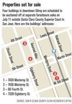 Four downtown Gilroy sites head to auction