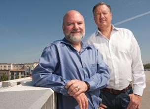 Panavisor'sengineering chief Scott Sachtjen, left, and CEO Bill Ames.