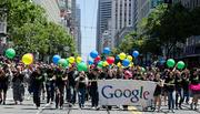 Google employees participate in the annual gay pride parades in multiple cities across the country. Bay Area-based employees of the company participate in the San Francisco Pride Parade (pictured).