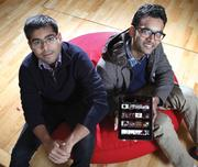 Consumer technology winner: Ankit Gupta, left, and Akshay Kothari created Pulse - an app for the iPhone that aggregates news from various sites into a single place. The company landed content partnerships with 250 publications, including The Atlantic, Esquire and Vanity Fair.