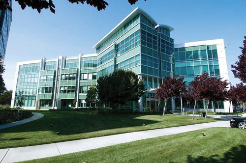 Sencha, which moved into the Redwood City building shown above, said revenue has doubled yearly.