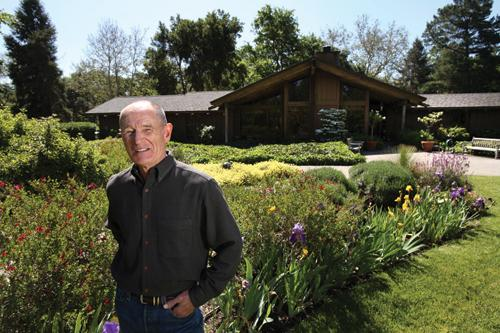 Knopf Construction President Roger Knopf, here at his Morgan Hill home, has been on hospital boards in the South Bay since 1986.