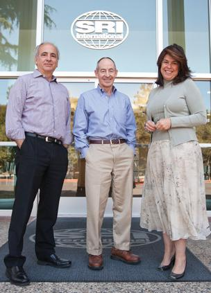 Norman Winarsky and William Mark of SRI International, and Beatriz Lara Bartolome of BBVA